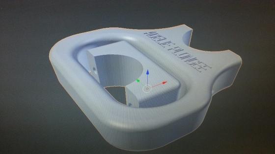 Poignée de bouteille de plongée dessinée par Réflexe Impression 3D