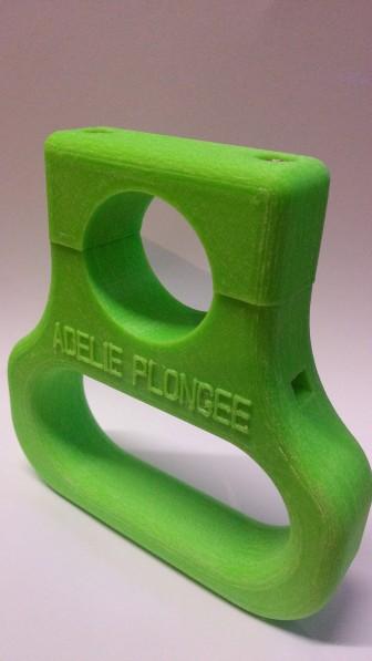Poignée de bouteille de plongée Imprimée par réflexe Impression 3D